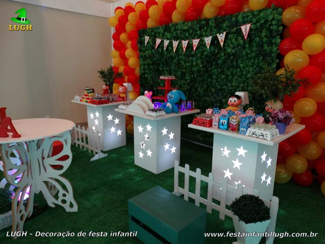 Decoração de mesa temática infantil Turma da Mônica - Festa de aniversário