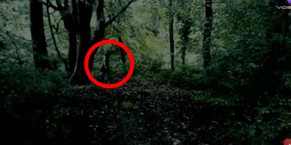 """Captan a supuesta """"niña fantasma de ojos negros"""" en el bosque ¿real o fake?"""
