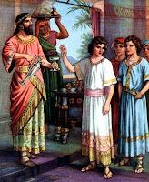 Daniel and his companions - clipart.christiansunite.com