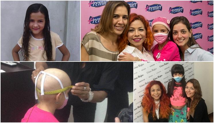 Donacion peluca a niña con cancer.