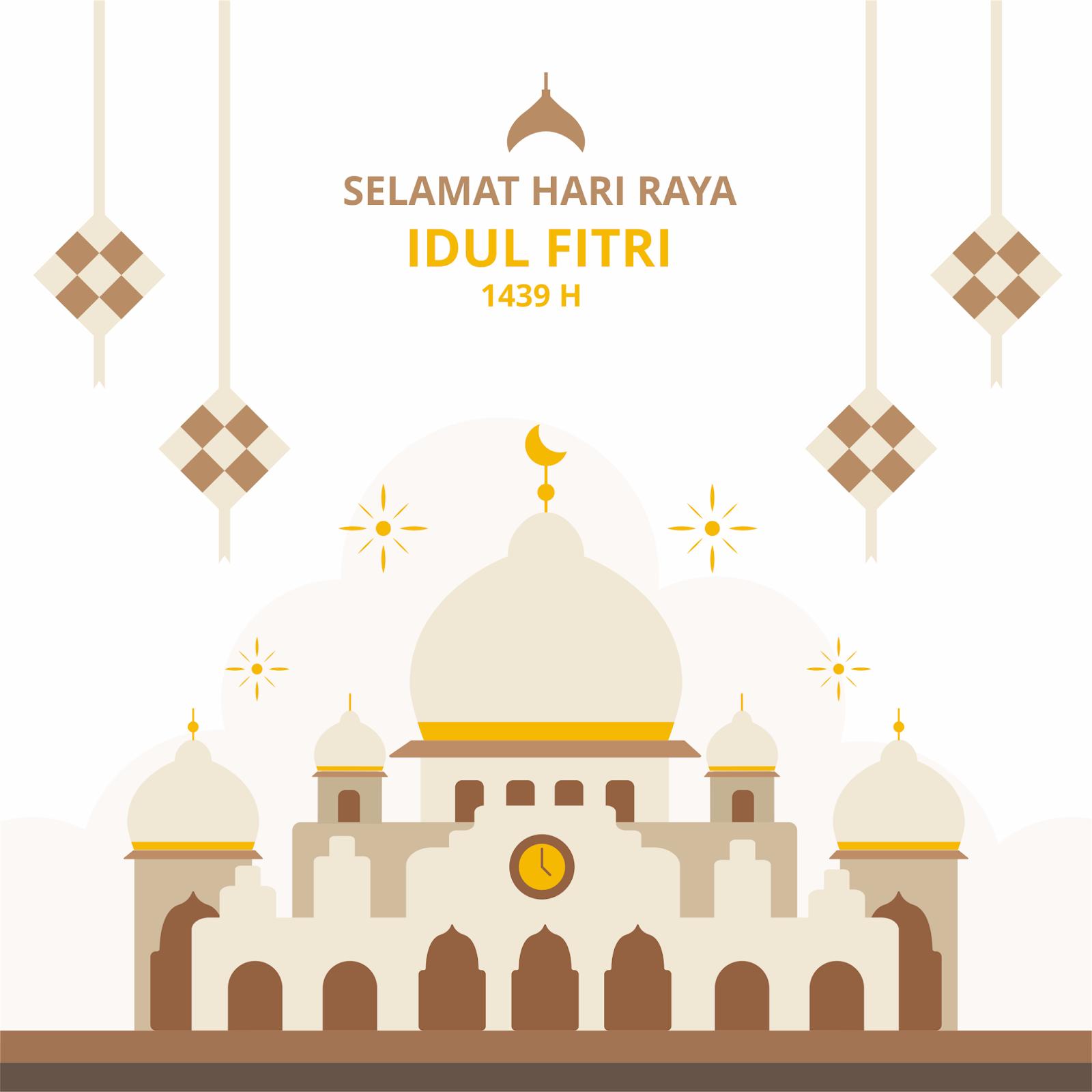 Download Desain Background Baliho Hari Raya Idul Fitri