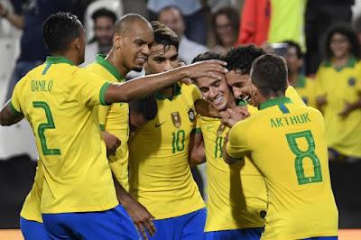 Video Cuplikan Gol: Brasil 3-0 Korea Selatan (International Friendly)