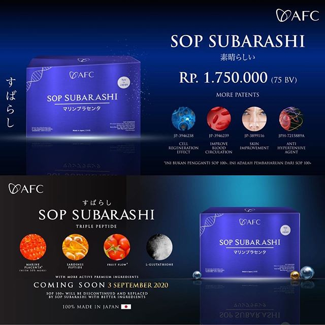 Agen Jual: SOP 100 Made In Japan, Patent SOP Subarashi, di Manokwari