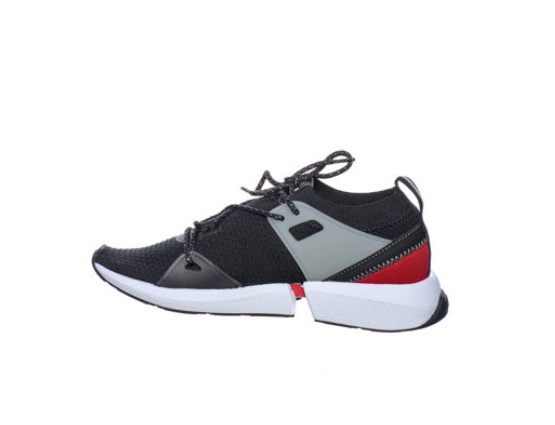 Liu Jo Pantofi sport dama negri cu detaliu logo si constructie tip soseta