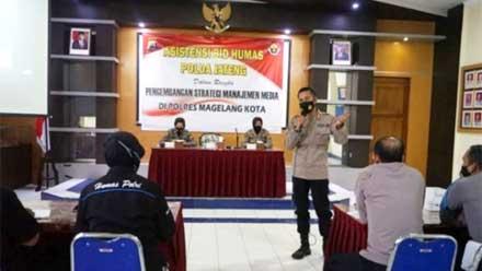 Tim Asistensi Bidhumas Polda Jateng Kunjungi Polres Magelang Kota