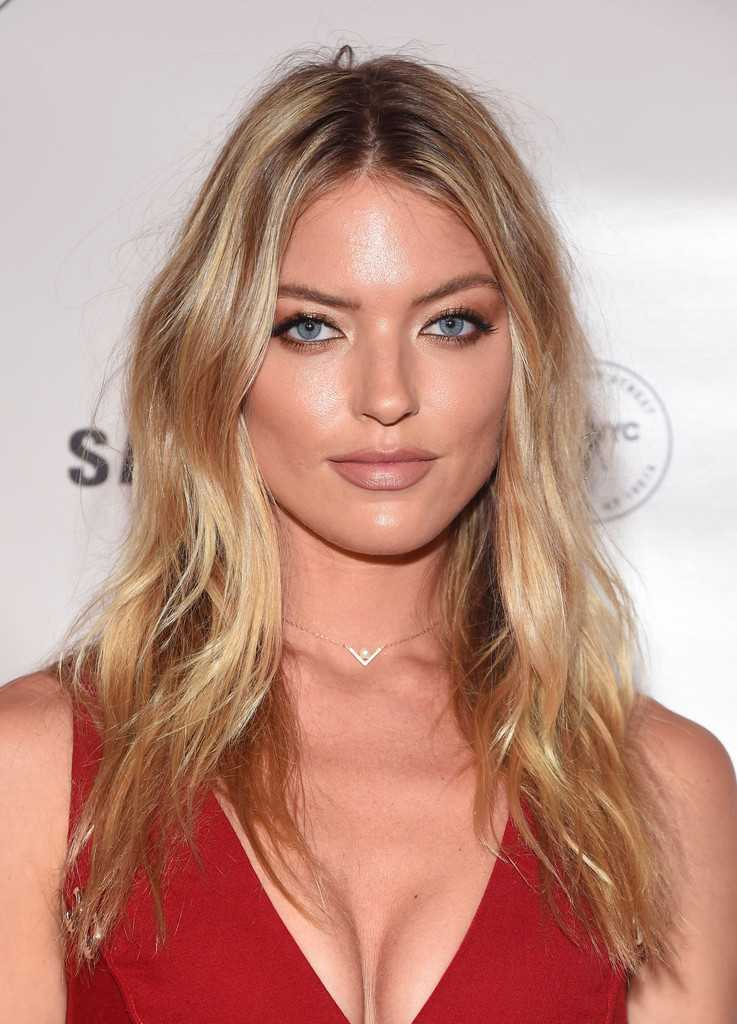 Martha Hunt at Charlotte Tilbury x Samsung in NYC