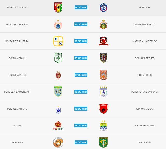 Jadwal Liga 1 2018 Pekan 18