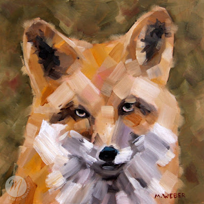 Felix-fox-oil-painting-Merrill-Weber