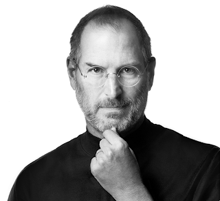 Steve Jobs Black and White Photo
