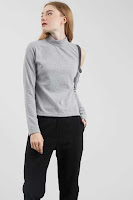 BerryBenka Tiffany Cut Sleeve Top Grey ANDHIMIND