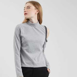 Tiffany Cut Sleeve Top Grey