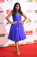 Eesha in Cute Blue Sleevelss Short Frock at Mirchi Music Awards South 2017 ~  Exclusive Celebrities Galleries 022.JPG