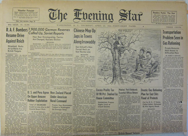 Evening Star 23 April 1942 worldwartwo.filminspector.com
