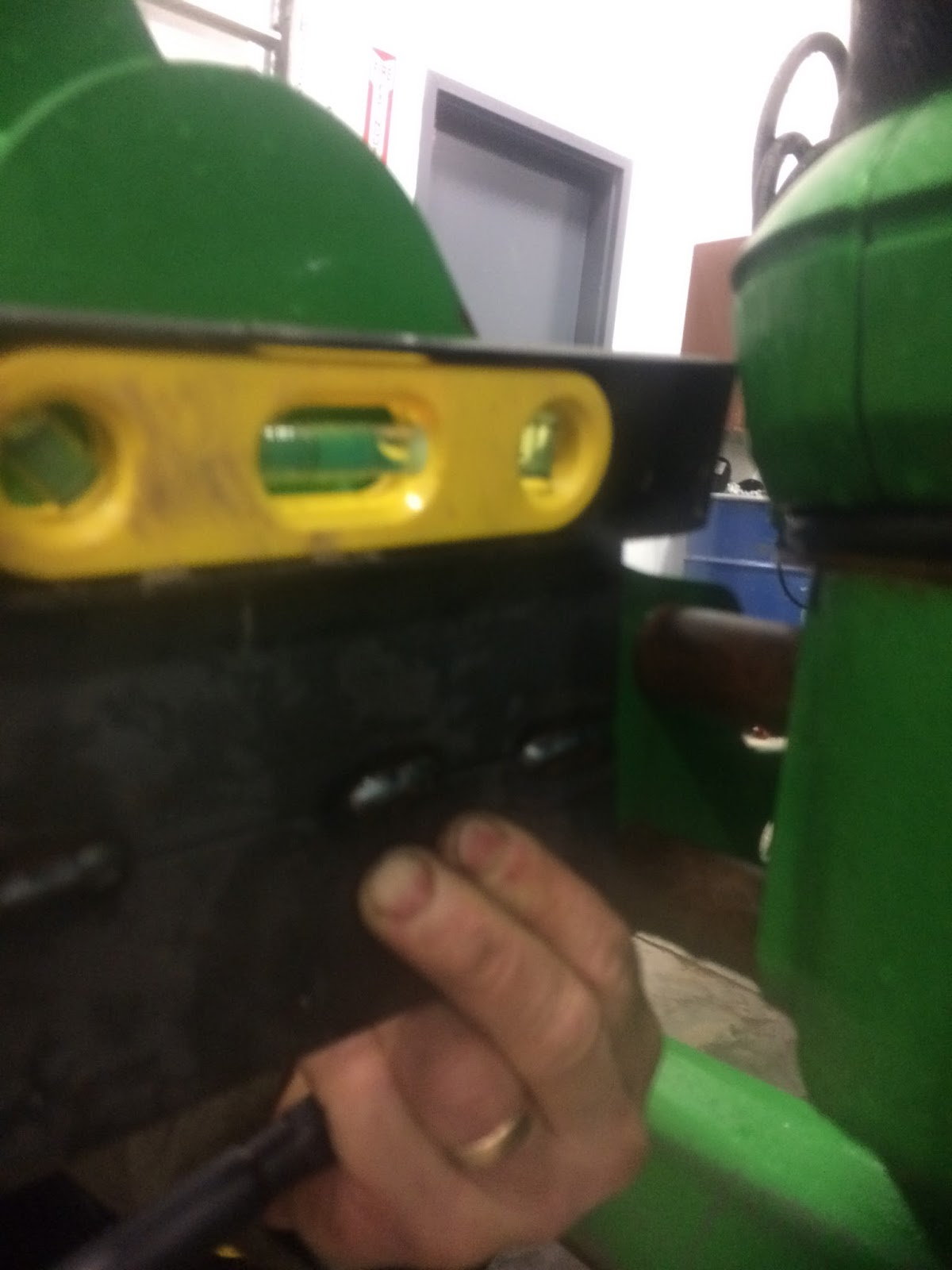 """bobs shop: mounting a 2"""" receiver on tractor"""