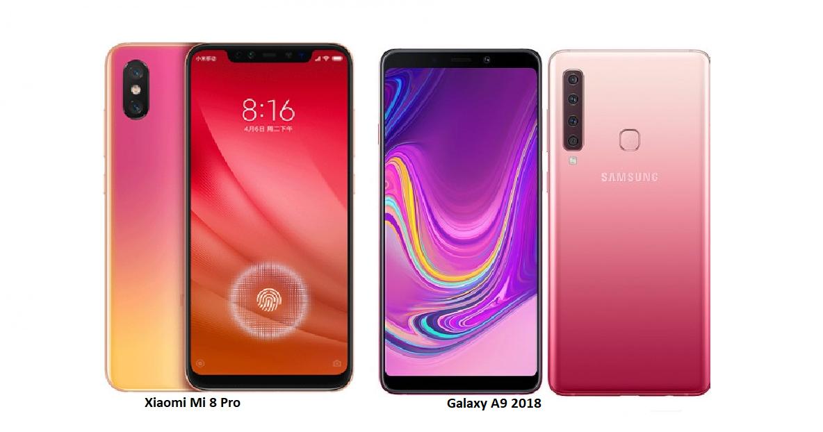 Samsung Galaxy A9 2018 Vs Xiaomi Mi 8 Pro Comparisons