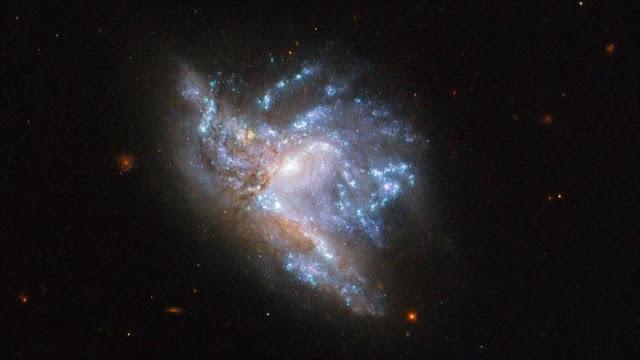 Deslumbrante foto del Hubble de dos galaxias en colisión
