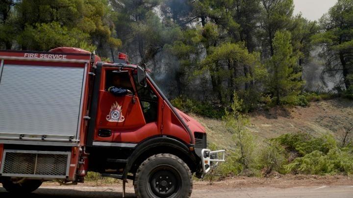 Υπό μερικό έλεγχο πυρκαγιά σε δασική έκταση στο Σουφλί του Έβρου