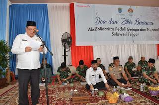 Doa dan Donasi Warga OKI untuk Korban Gempa Sulteng