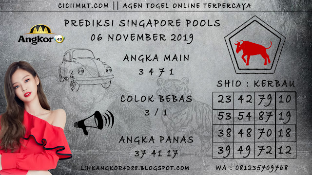 PREDIKSI SINGAPORE POOLS 06 NOVEMBER 2019