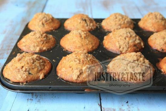 Resep Muffin Apel, Kismis dengan Topping Streusel