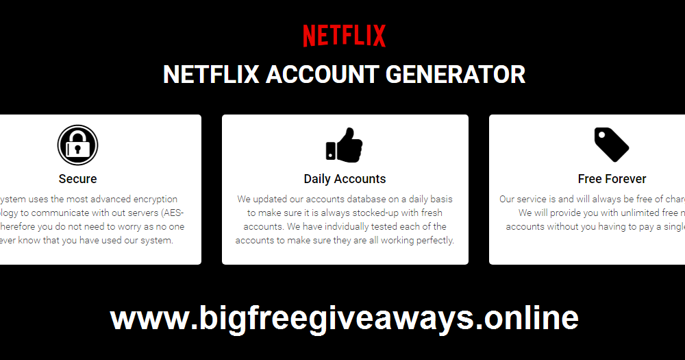 Netflix Account Generator 2021 100 Working