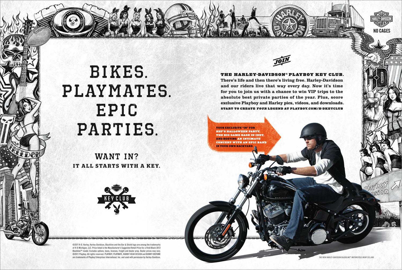 Harley Davidson Advertising: News: Harley Davidson Ad In