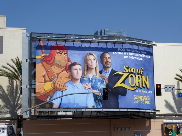 Son of Zorn series premiere billboard