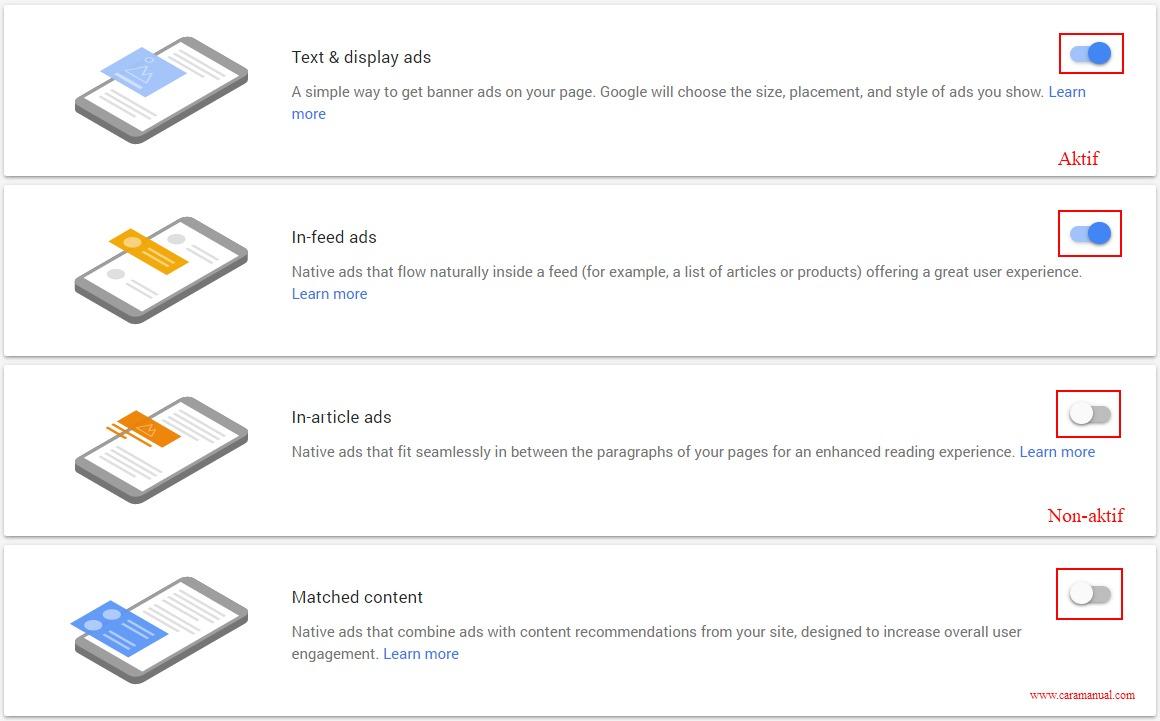 Cara Memasang Iklan Otomatis AdSense di Blogger 5