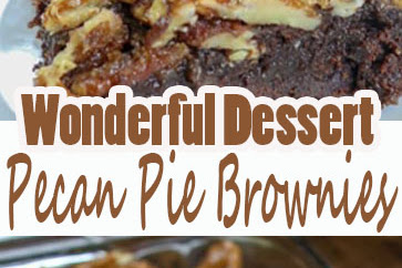 Wonderful Dessert any Time of Year , Pecan Pie Brownies