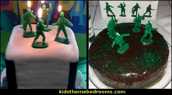 Retro Toy Soldiers 'Army Men' Military Birthday Candles  army party decorations - Camouflage Party Supplies - army party ideas - Military party ideas for a boy birthday party - Army & Camouflage decorations - army party decoration ideas - army themed party - army costumes - Army Camo Party Supplies -