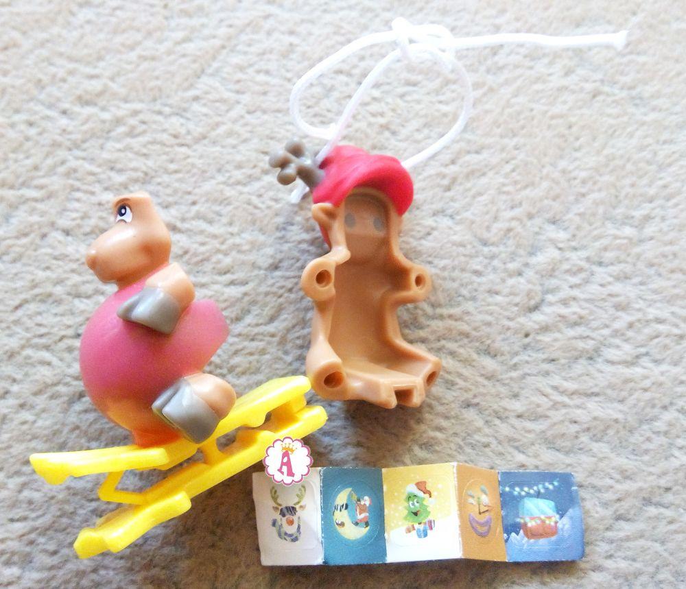 Киндер Джой игрушка на елку новогодний олень