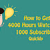 YouTube Channel pe 4000 watchtime 1000 subscribers Quickly