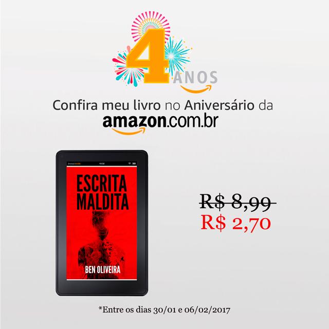 Aniversário Amazon Brasil: Escrita Maldita com desconto