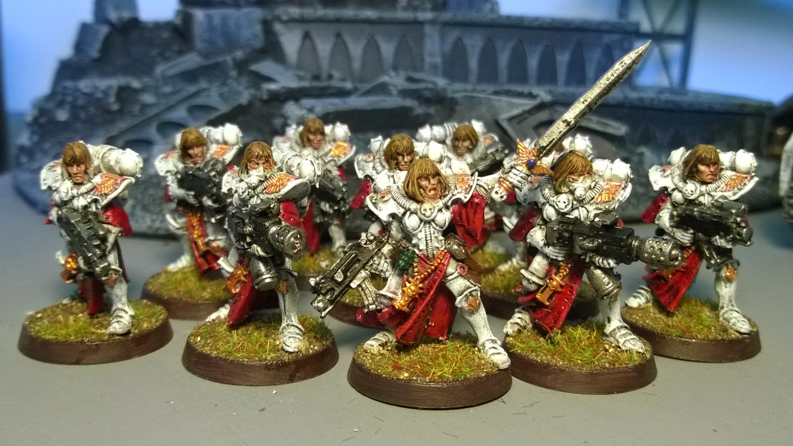 sisters of battle red white troop gw metal