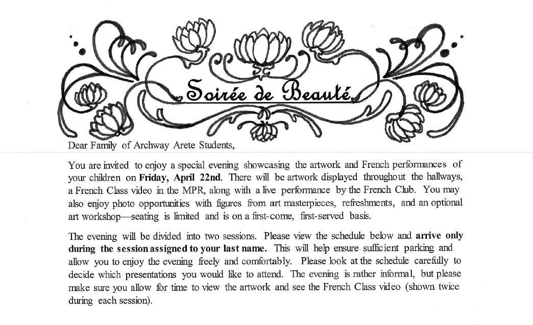 Ms. Arce-Lindsay's Art Class : Soiree de Beaute Approaches