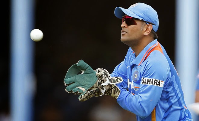 MS Dhoni Indian Cricket Player New HD Wallpaper 2014