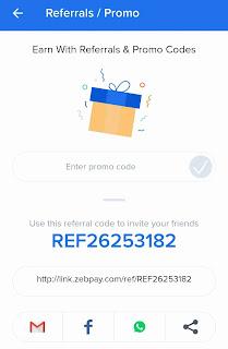 Zebpay app refer and earn