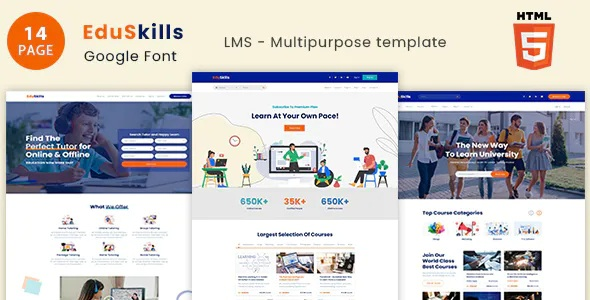 Best Skills Online Courses & LMS HTML Template