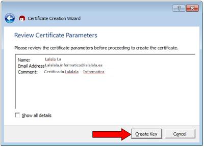 Certificados en Kleopatra