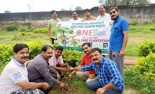 लायंस क्लब क्षितिज के पदाधिकारियों ने किया पौधरोपण   #NayaSaberaNetwork