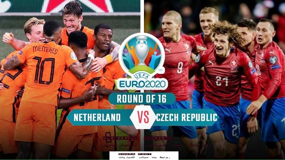 مباراة هولندا والتشيك في بطولة يورو 2020