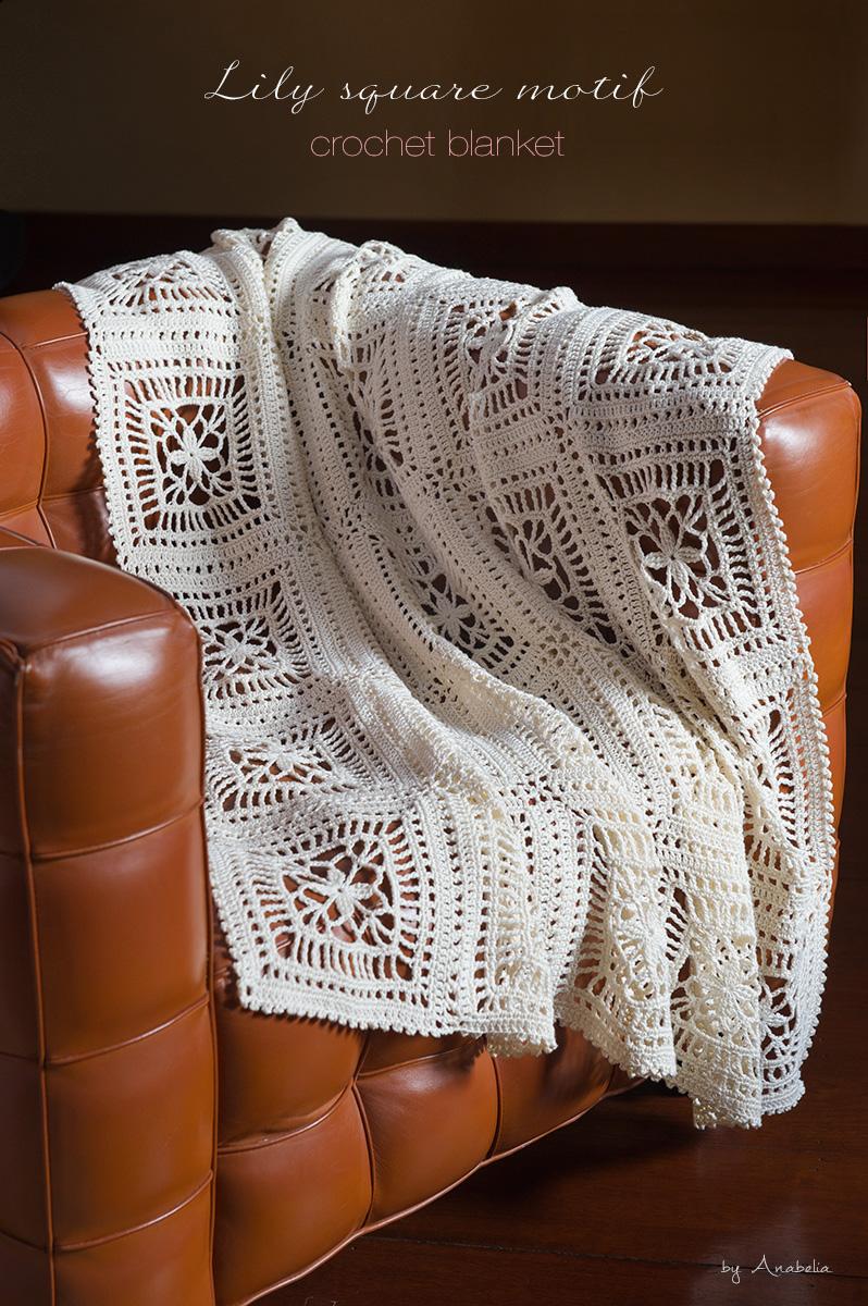 Lily Crochet Blanket Pattern Anabelia Craft Design Blog Bloglovin Flower Motif Motivos Hexagonales Pinterest