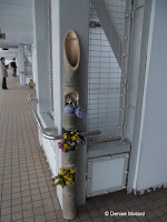 A discreet spot for potted flowers - Onaruto Bridge, Japan