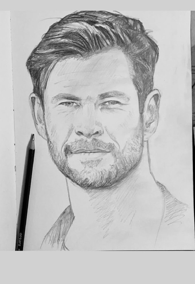Chris Hemsworth -A Quick Portrait within  20 to 40 minutes