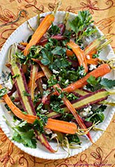 Glazed Carrots w/ Parsley Gremolata, Goat Cheese & Honey