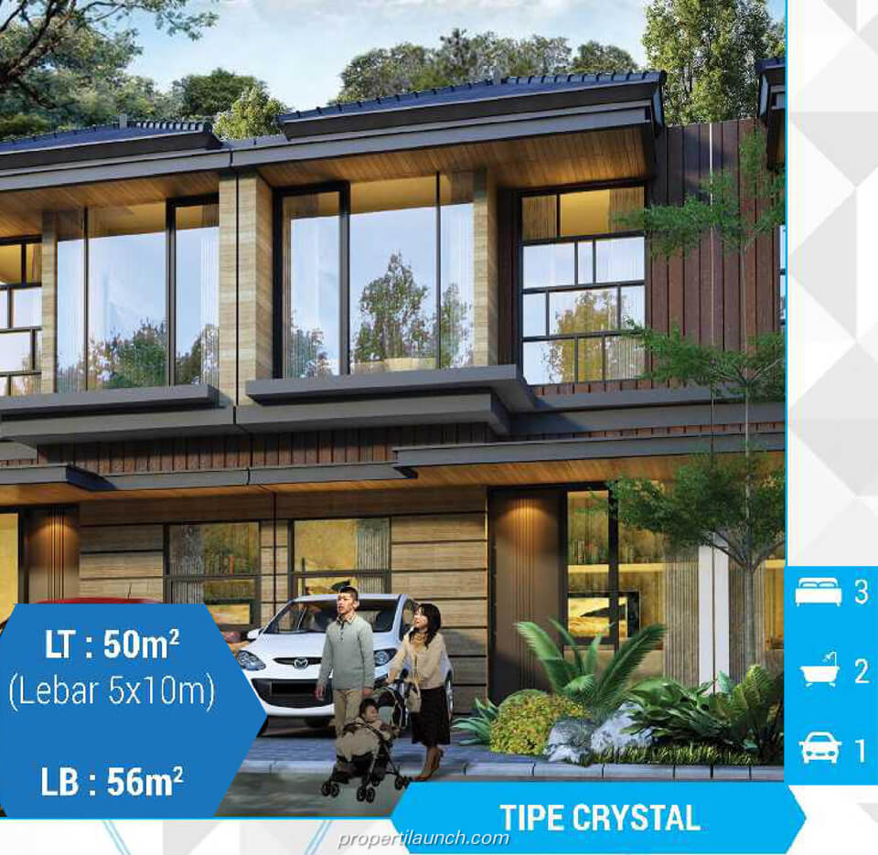 Rumah cluster Diamond @ Golden Stone Serpong Tipe L5