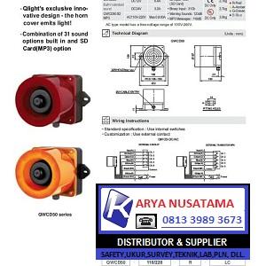 Jual Warning Light Alarm Pabrik Qlight QWCD50 di Jepara