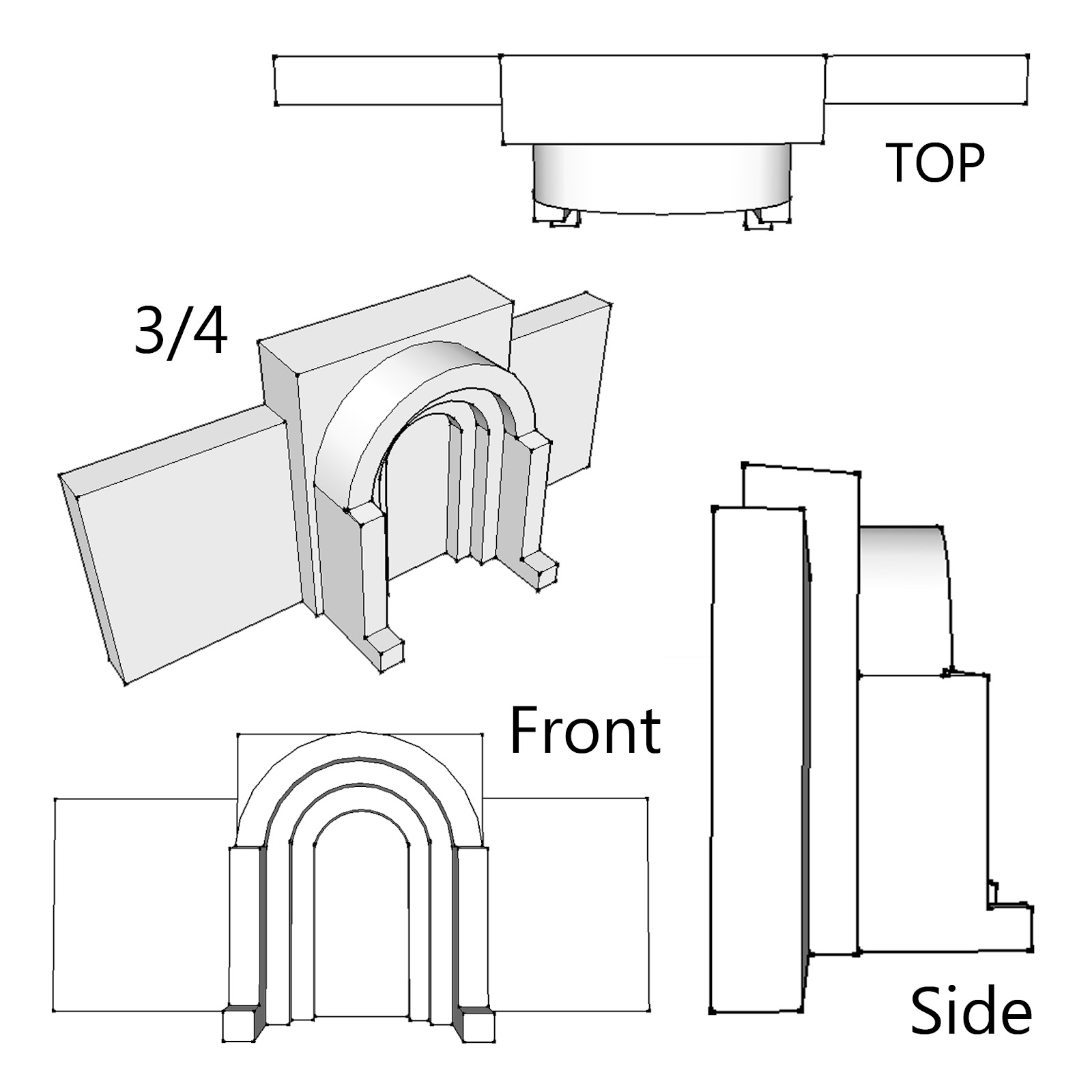 Simple Orthographic Drawing