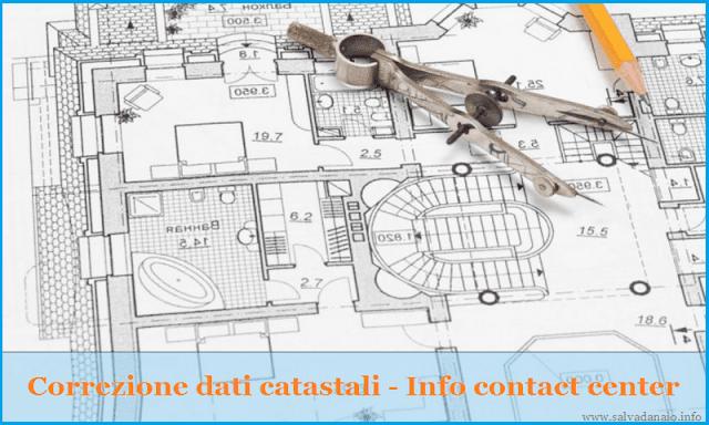 Correzione dati catastali online e contact center