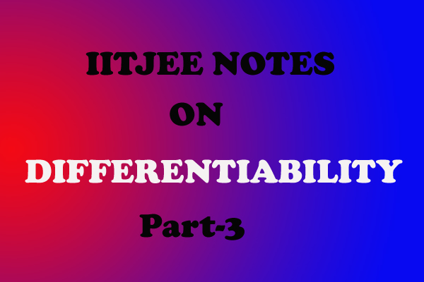 differentiability notes cbse